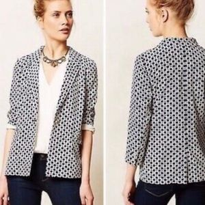 ANTHROPOLOGIE Cartonnier Navy and White Jacket
